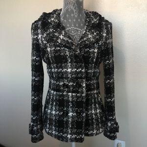 G by Guess B&W Jacket Size Medium